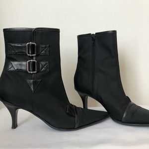 Casadei Black nylon Booties size 6